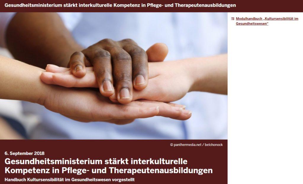 Gesundheitsministerium stärkt interkulturelle Kompetenz in Pflege